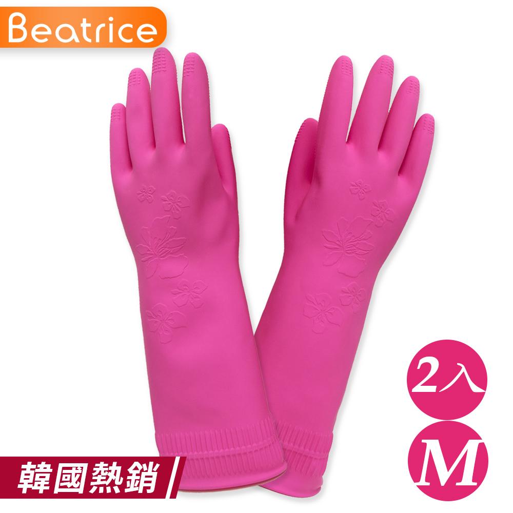 【Beatrice碧翠絲】韓國熱銷 環保家事手套-M(2入)