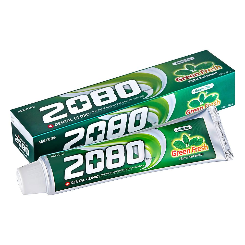 【韓國2080】綠茶清新護齦牙膏120gX16入