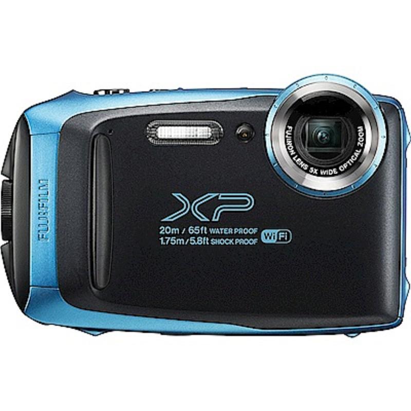 FUJIFILM XP140防水潛水相機 -藍色 恆昶公司貨 送64G高速卡+專用電池+專用座充+自拍棒+清潔組+保護貼+讀卡機+原廠相機包