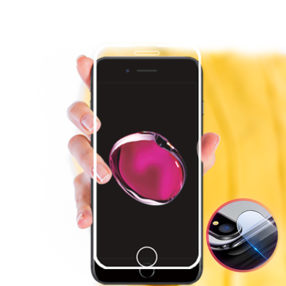 BLUE POWER iPhone 6/7/8 共用 2.5D 細邊滿版 9H鋼化玻璃保護貼