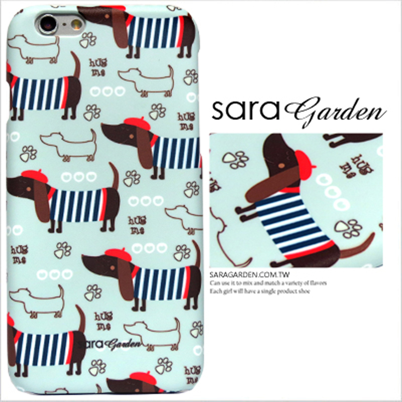 【Sara Garden】客製化 手機殼 SONY Xperia 10 手繪 插畫 狗狗 踏青 保護殼 硬殼