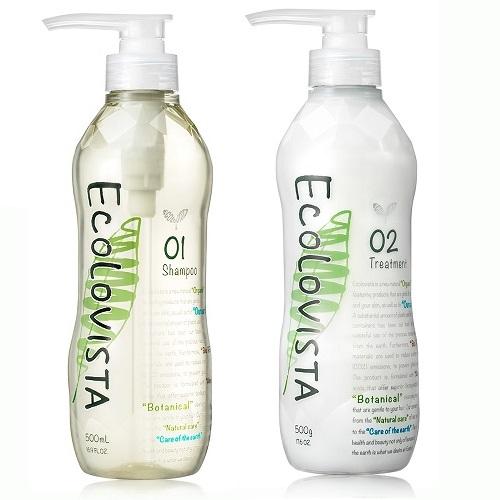 日本植寇希(Ecolovista)氨基酸植物精油(亮澤滋潤)-洗髮精500ml+潤髮乳500ml