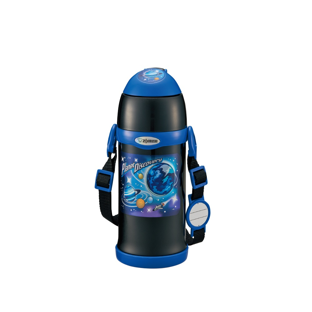 【ZOJIRUSHI 象印】0.6L童用2WAY不鏽鋼保溫保冷瓶-BA黑色 SC-ZT60-BA