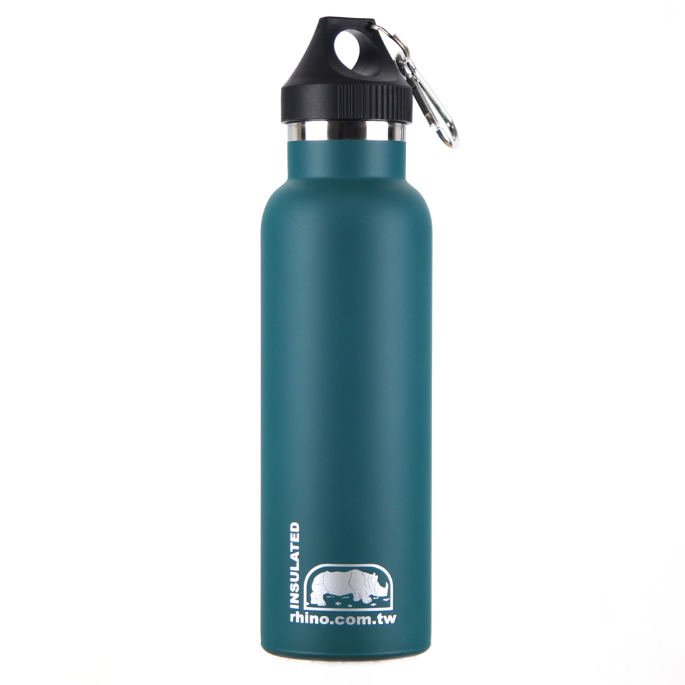 犀牛RHINO Vacuum Bottle雙層不銹鋼保溫水壺600ml-清綠