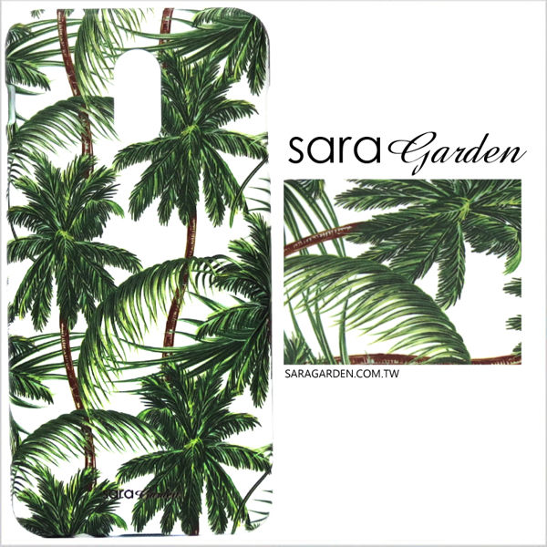 【Sara Garden】客製化 手機殼 Samsung 三星 A8 2018 A5 2018 叢林椰子樹 保護殼 硬殼