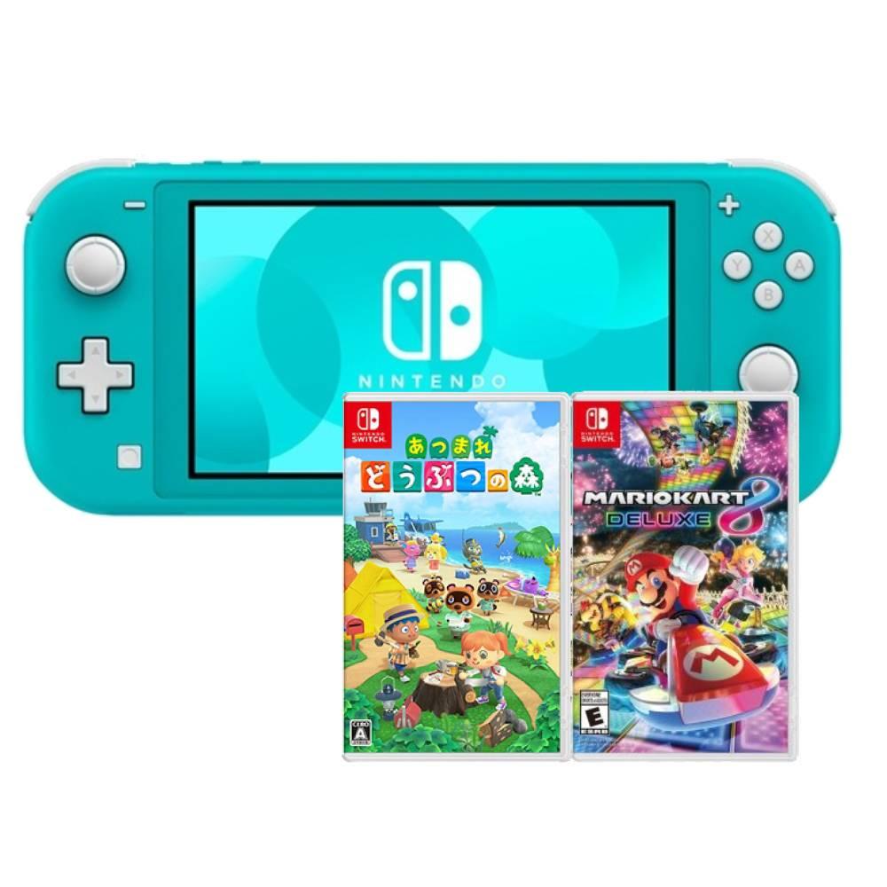 【預購】Nintendo Switch Lite 藍 (台灣公司貨)+動物森友會 中文版+瑪利歐賽車 8 豪華版 中文版