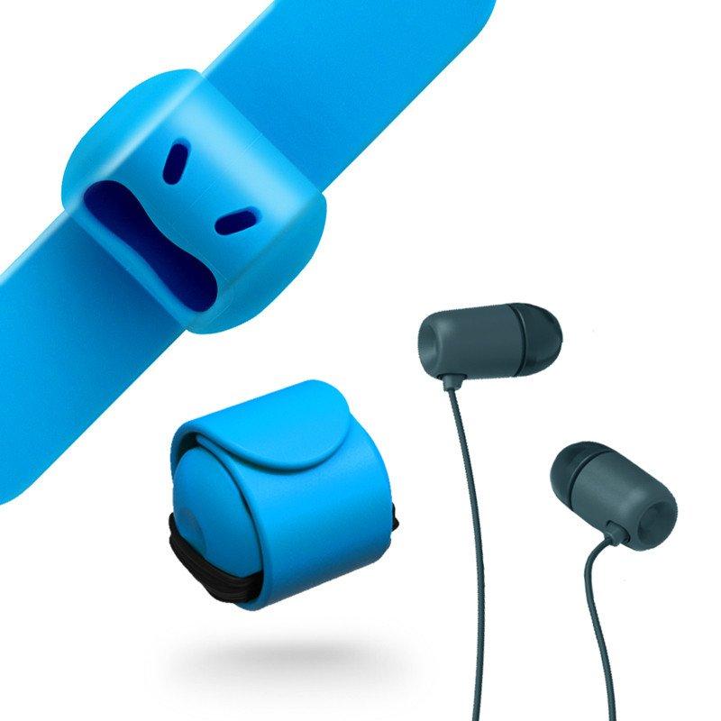 【台灣 MOOY】Snappy WOW 耳機捲線器-晴空藍 2組入