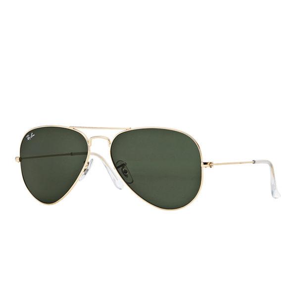 RayBan 時尚太陽眼鏡 (金框/墨綠鏡面)