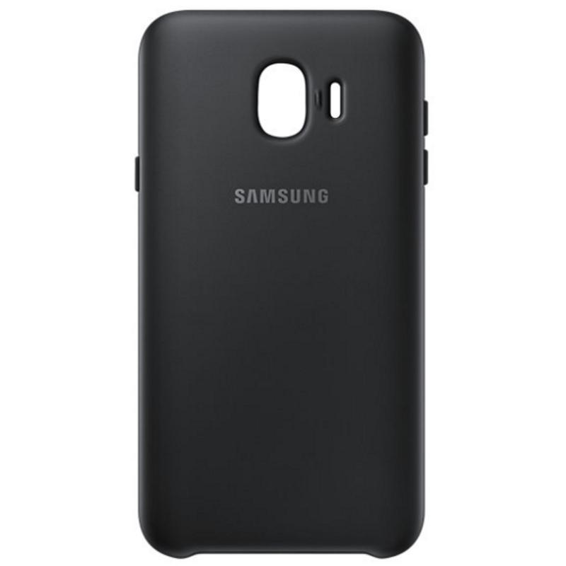 SAMSUNG Galaxy J4薄型透明背蓋-PC及TPU混和 黑色