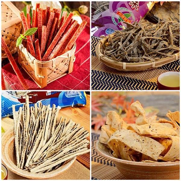 《東港華得》禮盒A(鮪魚肉乾+墨魚香絲+黑芝麻鱈魚絲+黑胡椒魚板)