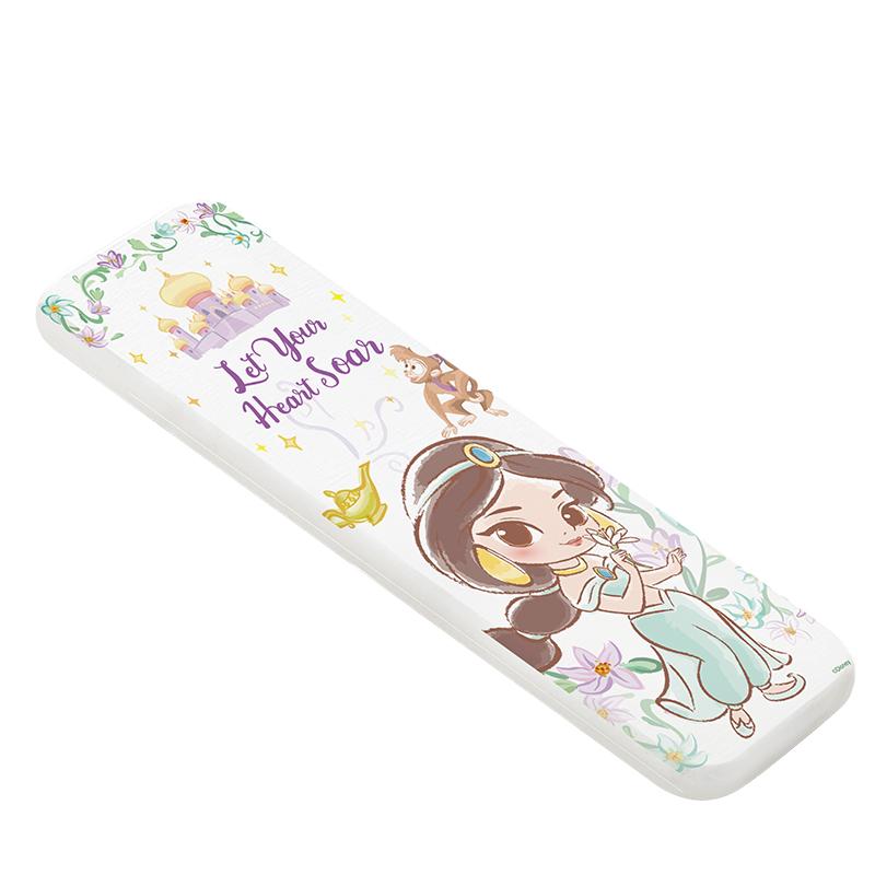 【收納王妃】迪士尼公主童話風珪藻土吸水洗漱墊-Q版茉莉(直)