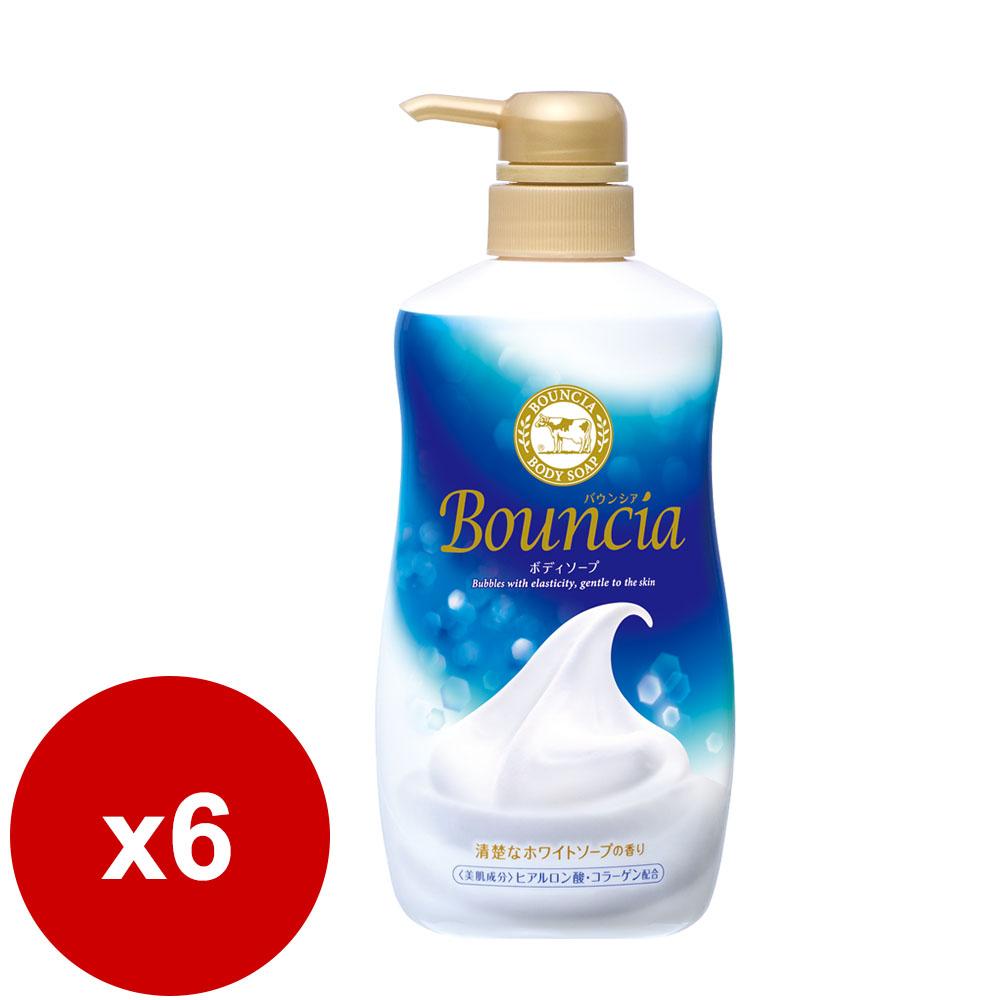 日本牛乳石鹼-美肌保濕沐浴乳(藍-優雅花香) 500ML *6瓶