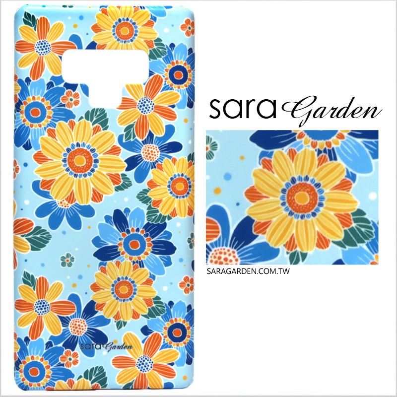 【Sara Garden】客製化 手機殼 Samsung 三星 Note10 保護殼 硬殼 向日葵碎花