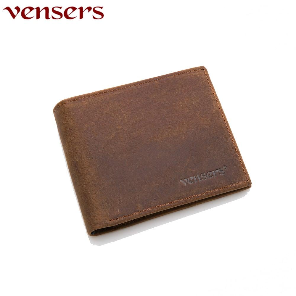 【vensers】小牛皮潮流個性皮夾~(NB600501瘋馬皮短夾)