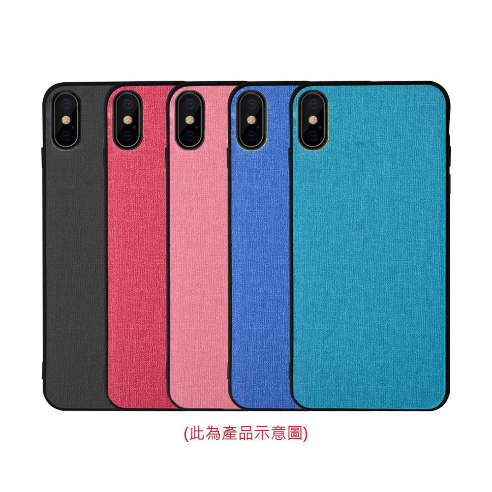 QinD Apple iPhone XR 布藝保護套(青藍色)