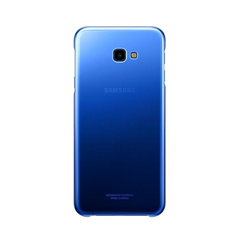 SAMSUNG Galaxy J4+ 漸層透明背蓋 藍