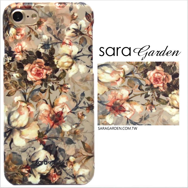 【Sara Garden】客製化 手機殼 蘋果 iPhone7 iphone8 i7 i8 4.7吋 玫瑰花叢 手工 保護殼 硬殼