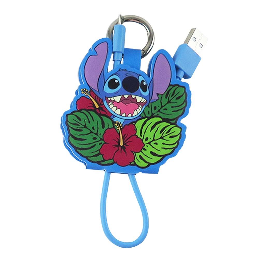 Disney迪士尼 史迪奇 Micro USB 皮革傳輸線/充電線