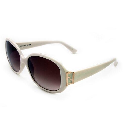 FENDI 白色晶透太陽眼鏡 5236