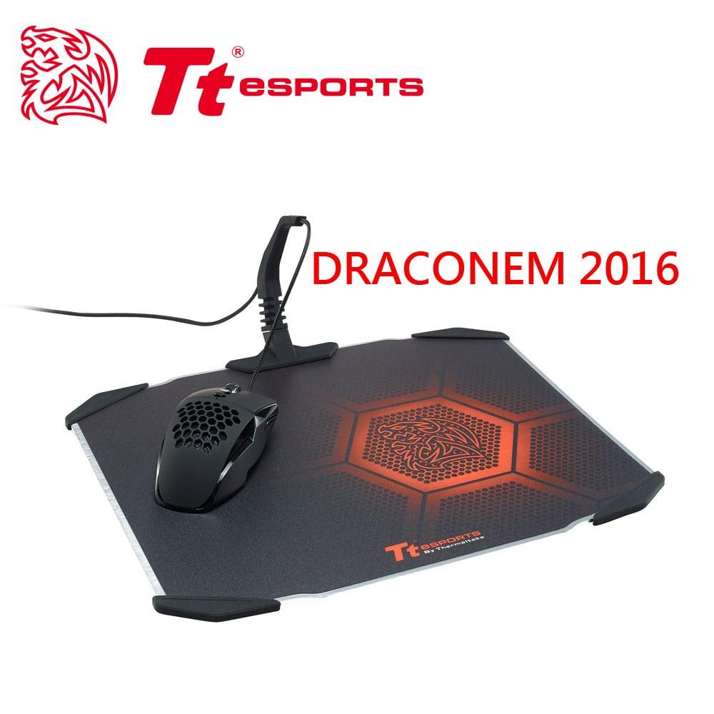 Tt eSPORTS【聖龍鱗DRACONEM2016雙面操控鋁板】電競滑鼠墊MP-DCM-BLKHMS-01