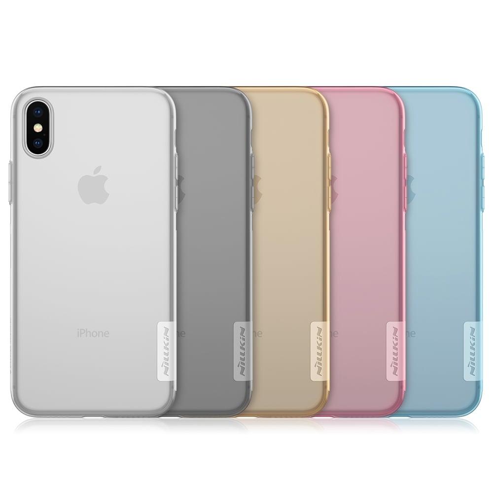 NILLKIN Apple iPhone X 本色TPU軟套(裸粉)
