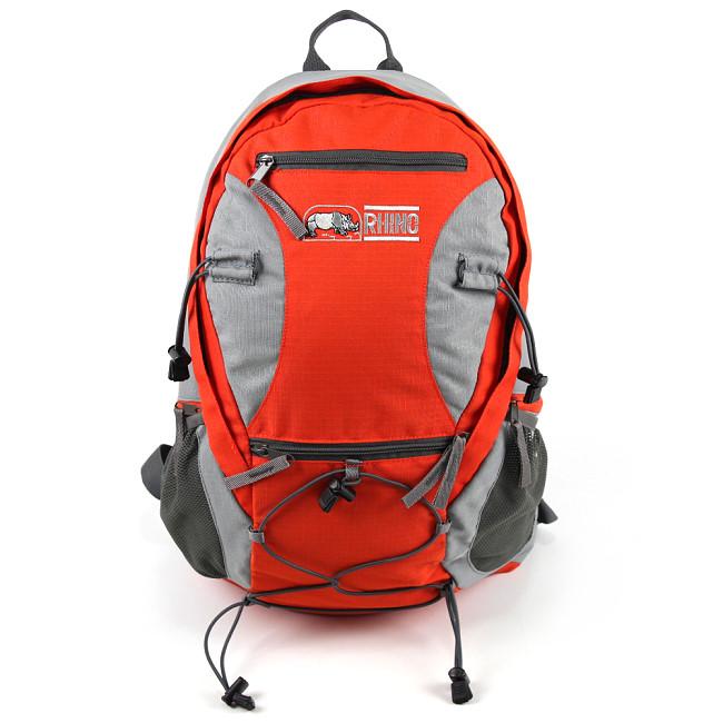 犀牛 RHINO  透氣彈性鋼網架背包G520(20公升)-橘紅