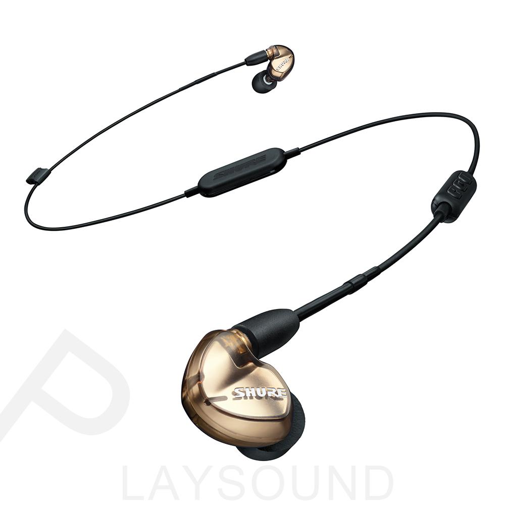 SHURE SE535-V+BT1線控+藍牙 金銅色 三單體 隔音耳機 監聽級 可換線 入耳式耳機