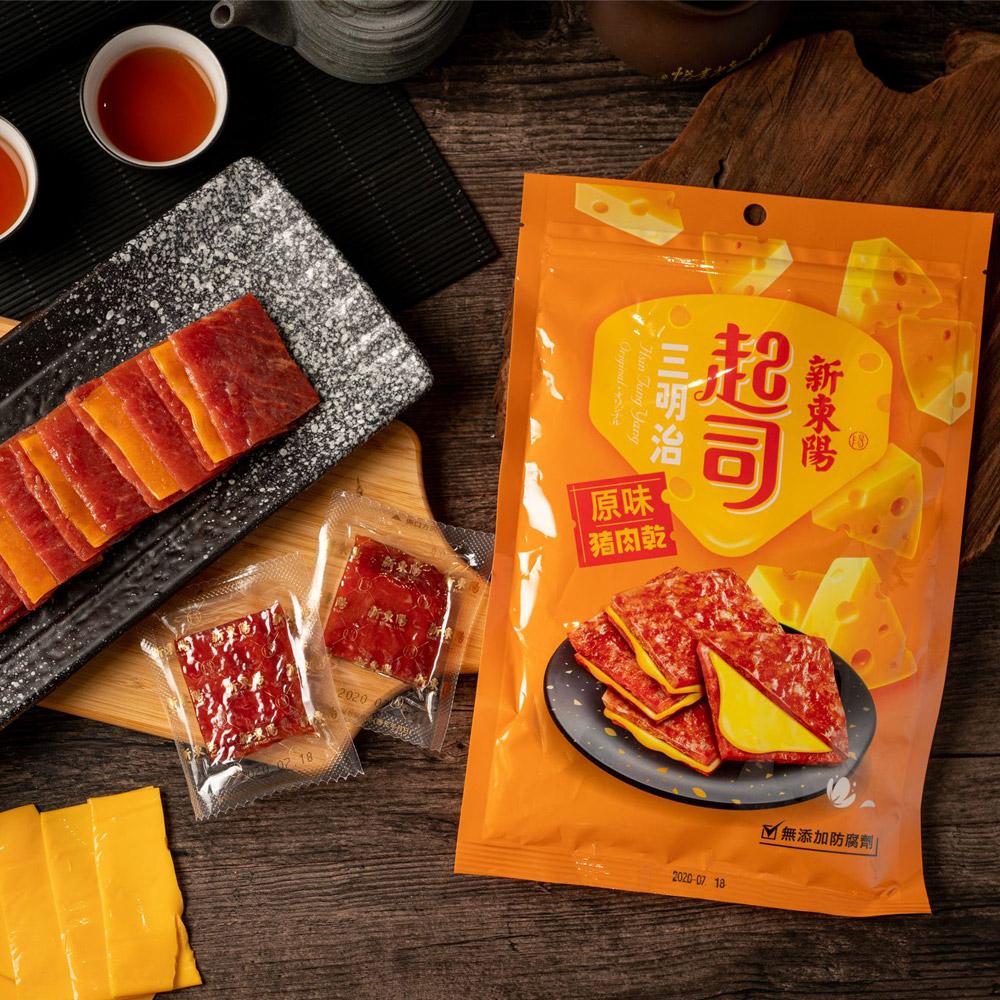【新東陽】起司三明治豬肉乾(180g*2包)