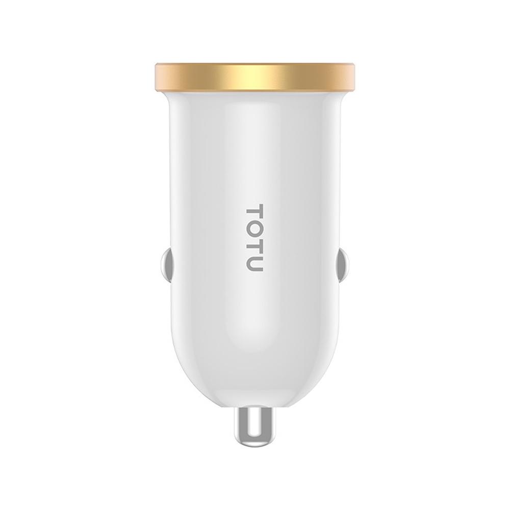 【TOTU台灣官方】2代 雙孔 車充 車用 LED 點菸孔 快充 充電器 金色