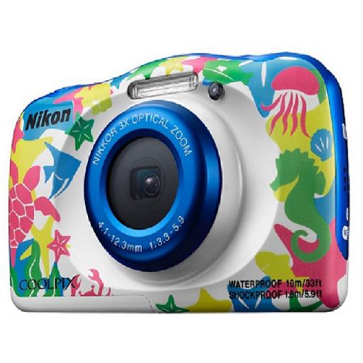 NIKON COOLPIX W100 - 彩繪版 送32G記憶卡+專用電池+清潔組+螢幕保護貼+讀卡機+小腳架 數位相機(公司貨)