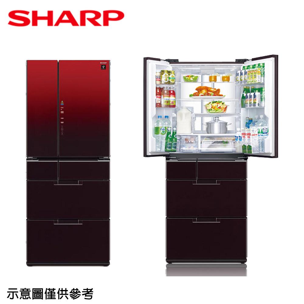原廠年終送【SHARP夏普】601公升變頻六門對開冰箱SJ-GF60BT-R