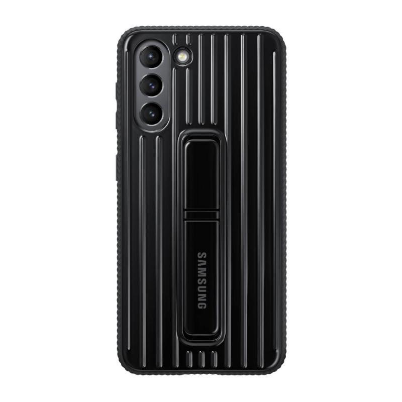SAMSUNG Galaxy S21 5G 立架式保護皮套 黑