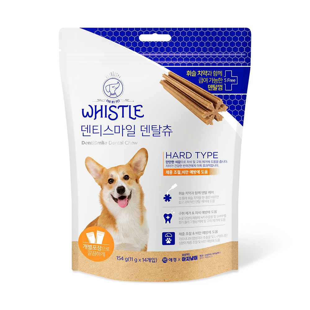 【韓國Whistle】硬型狗狗潔牙骨-健康體重(14入)