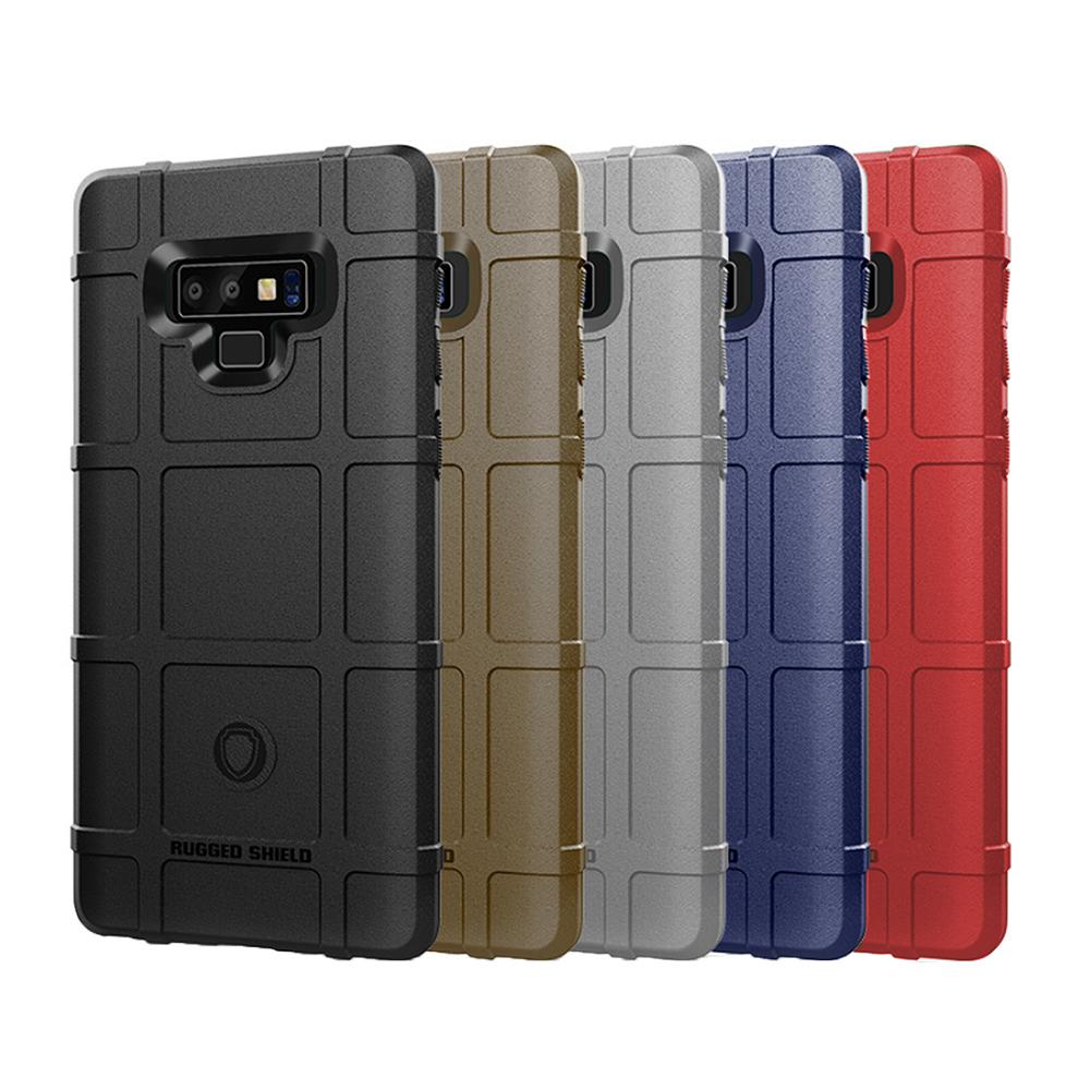 QinD SAMSUNG Galaxy Note 9 戰術護盾保護套(棕色)