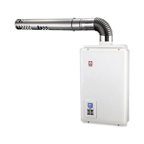 (含標準安裝)櫻花16公升強制排氣(與H1680同款)熱水器數位式H-1680