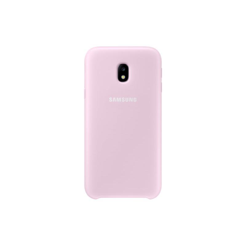 SAMSUNG J3 Pro薄型透明背蓋-PC及TPU 粉色