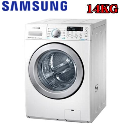 回函加碼送★【SAMSUNG三星】14KG洗脫烘變頻滾筒式洗衣機 WD14F5K5ASW/TW