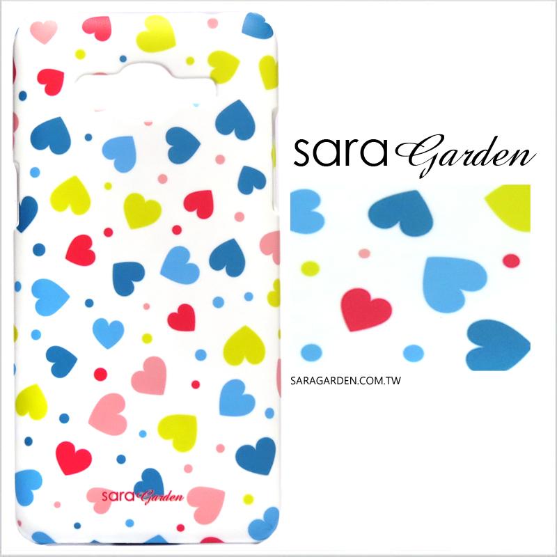 【Sara Garden】客製化 手機殼 Samsung 三星 Galaxy A70 滿版愛心 曲線 手工 保護殼 硬殼