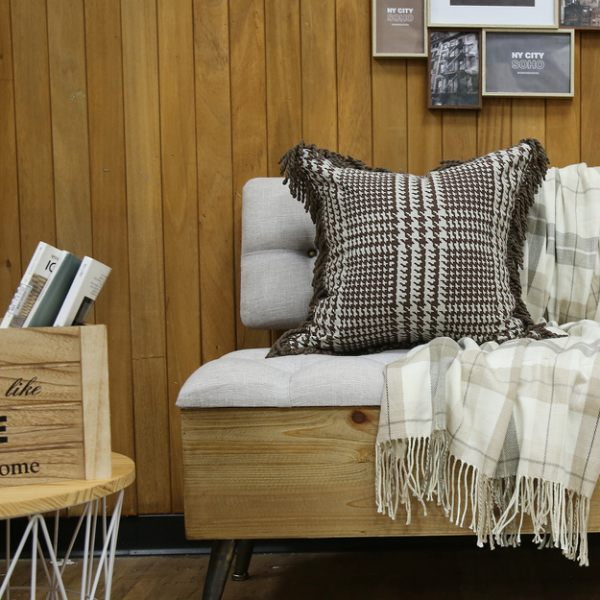 千鳥格紋抱枕套45x45-生活工場