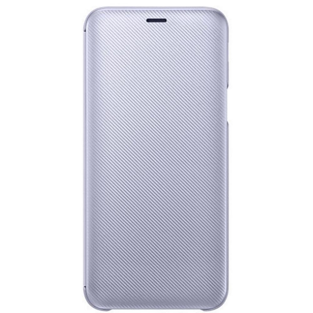 SAMSUNG Galaxy J6 翻頁式皮套 青紫