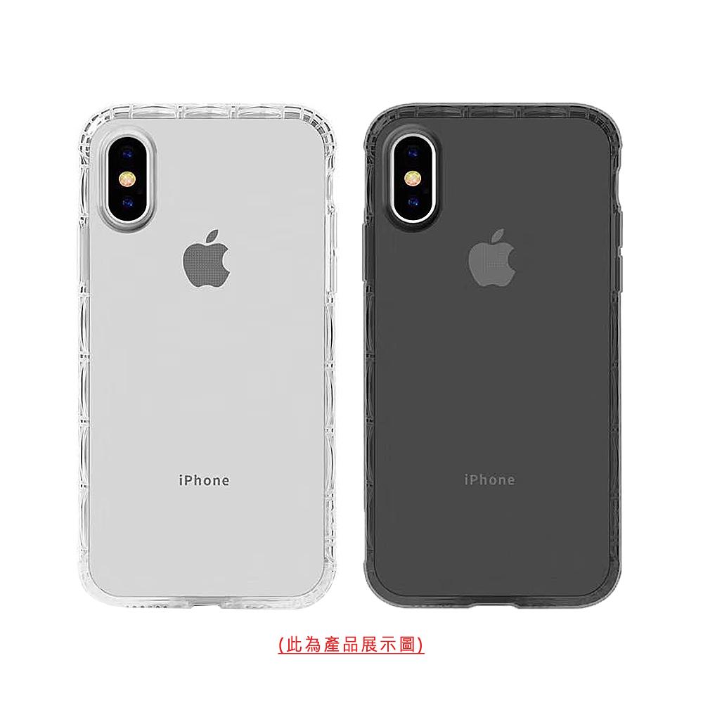 QinD Apple iPhone X/Xs 軍規防摔殼(透黑)