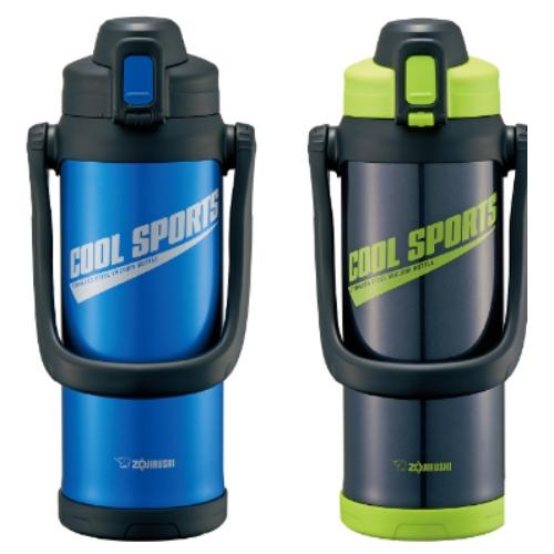 【象印ZOJIRUSHI】2L SLiT運動型不鏽鋼真空保冷瓶-BG黑色 SD-BC20-BG