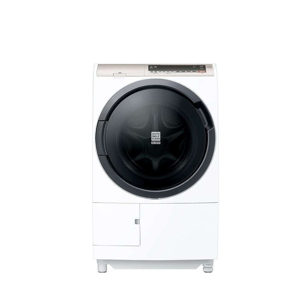 回函贈★日立11.5公斤滾筒洗脫烘(與BDSV115EJR同款)洗衣機星燦白BDSV115EJRW