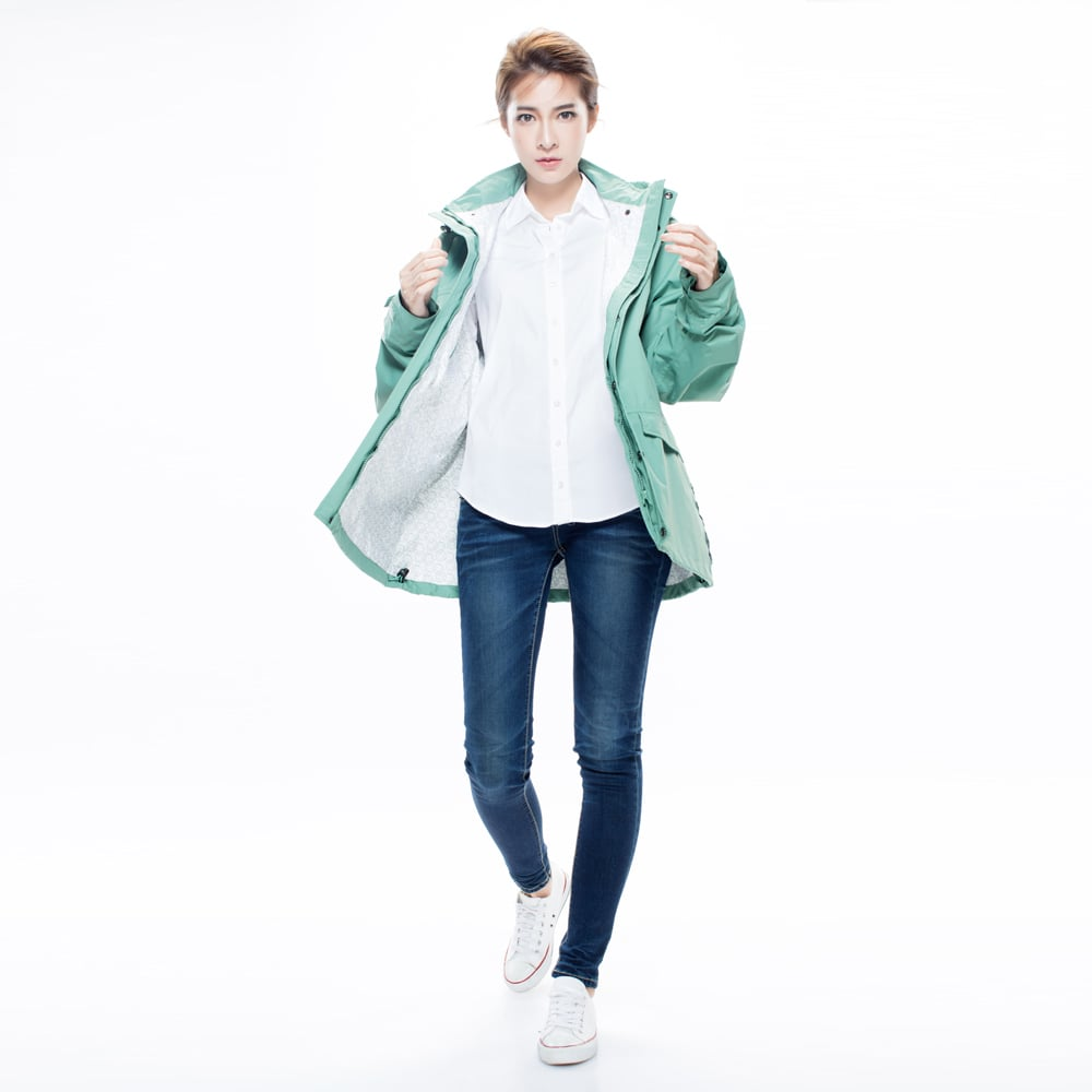MORR時尚機能風雨衣(尺寸XL) - 機能外套 Metropolis 機能防水外套_青石綠