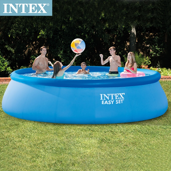 INTEX 簡易裝EASY SET大型泳池-濾水泵(26165)+送110V幫浦(66619E)