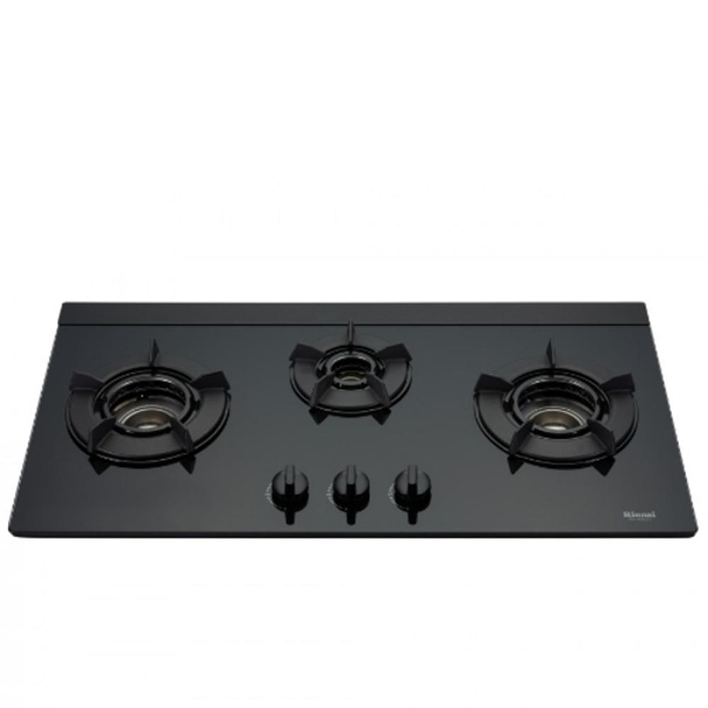 (全省安裝)林內三口內焰玻璃檯面爐內焰爐鑄鐵爐架黑色LED(與RB-N312G(B)同款)瓦斯爐RB-N312G(B)_NG1