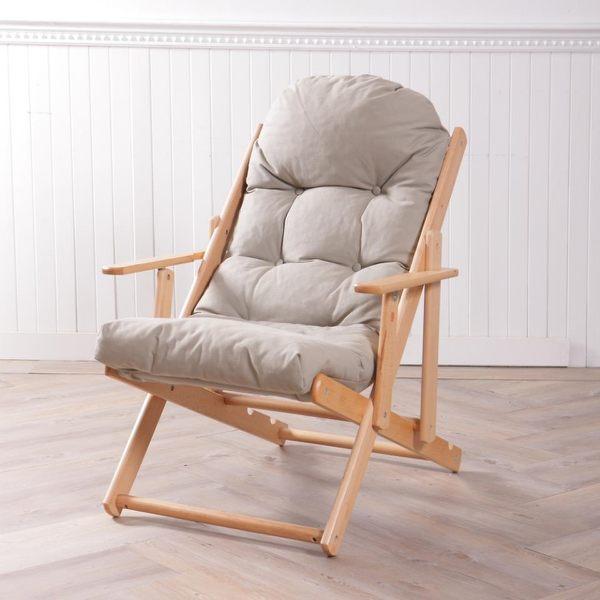北歐簡約櫸木躺椅-生活工場