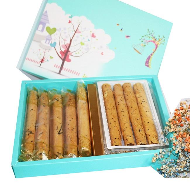 艾格諾先生手工蛋捲 小美滿禮盒 (原味+海苔)18入裝(4入裝*2+10入單支裝)