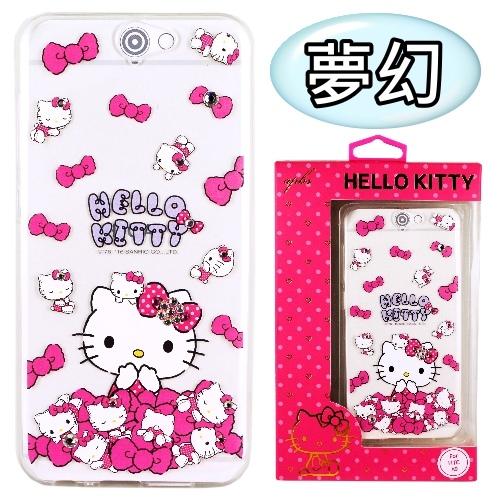 【Hello Kitty】HTC One A9 彩鑽透明保護軟套(夢幻)