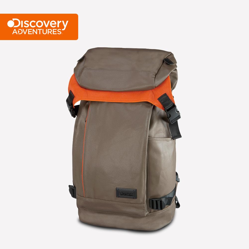 【Discovery Adventures】City上蓋式後背包-卡其色(DA-B16201-WG)